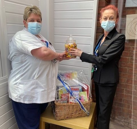 Member of the care team donates