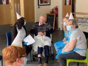 Birthday celebrations at the manor house nursing home